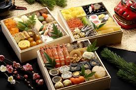 Japanese New Year celebration feast